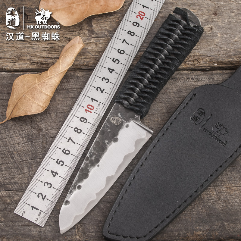 HX OUTDOORS Alta durezza tattiche di ragno nero sopravvivenza all'aperto piccolo coltello dritto assedio campeggio raccolta coltello regalo