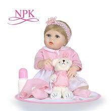 """NPk juguetes de silicona reborn para niños y niñas, muñecos de 22"""""""
