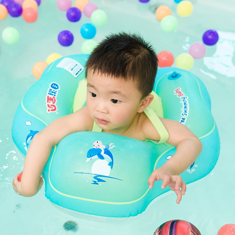 Free Swimming Baby Inflatable Swim Ring Infant Armpit Floating Kids Swim Pool Accessories Inflatable Bathing Ring Raft free ship