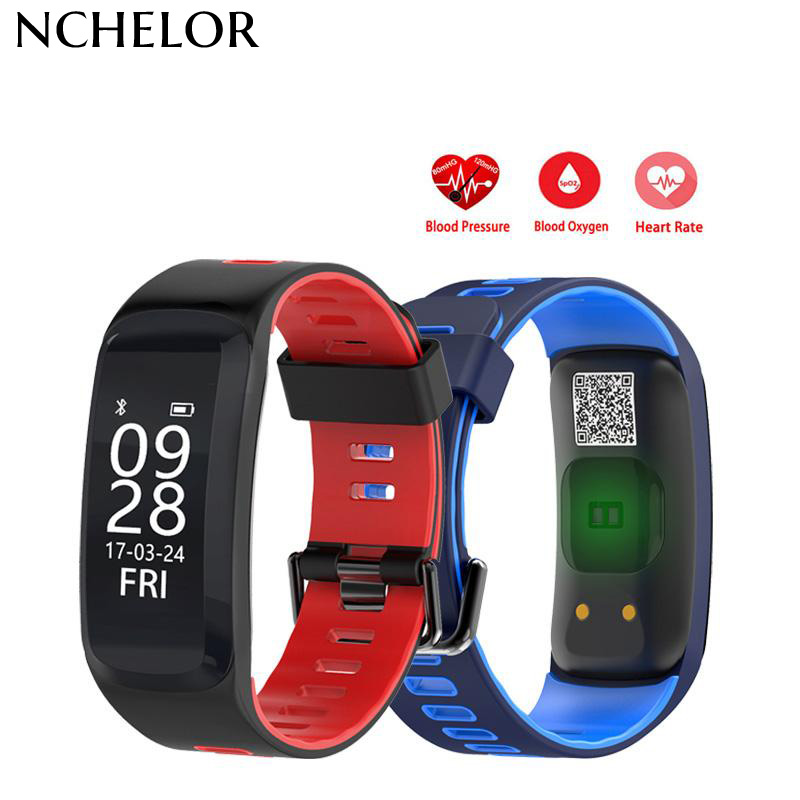 F4 Heart Rate Smart Band Fitness Bracelet Wristband Blood Pressure Blood Oxygen Monitor IP68 Waterproof Sports Smartband
