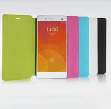 Original Xiaomi Mi4 Leather Case Ultra Thin and High Quality Cover Function For Xiaomi Mi 4 phone Good quality