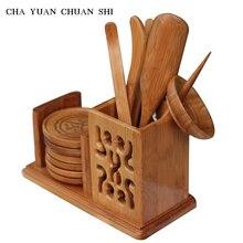 Chayuanchuanshi Hohl Teezeremonie Werkzeuge Bambus sechs gentleman Tee-Set tong Teelöffel Teesiebe Scoop ordner Kungfu Tee-set
