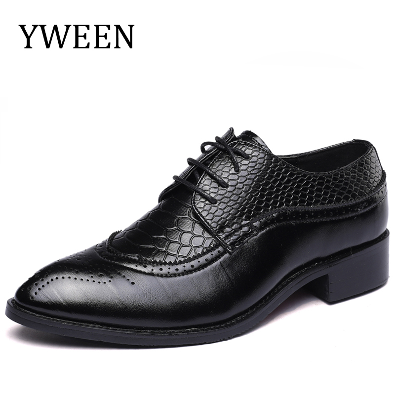 Cheap Wedding Dresses Wilmington Nc: YWEEN Elegant Pointed Toe Man Oxfords Leather Formal Dress