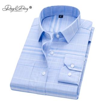 Davydaisy 2019 New Arrival Men Shirt Long Sleeved Male Plaid Printl Business Dress Shirts Brand Clothing Work Shirt Man Ds262 Mr Davy/hoodmat.com