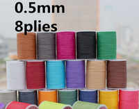 YL050 8 plies 120 m de largo 0,5mm hilo encerado redondo para costura de cuero de la cuerda de costura