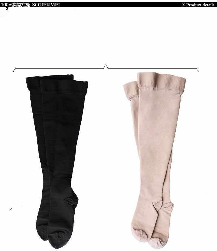 ce7069b0b5 ... A Pair Compression Stockings Varicose Veins30-40mmHg Pressure mid-Calf  length Medical Stockings for ...