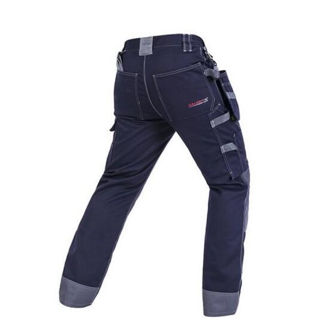 De Calidad superior de Moda Para Hombre Pantalones De Bolsillo en general de algodón de Ocio Pantalones de Seguridad Pantalones De Trabajo Para Hombre Pantalones Casual Tamaño 2XL