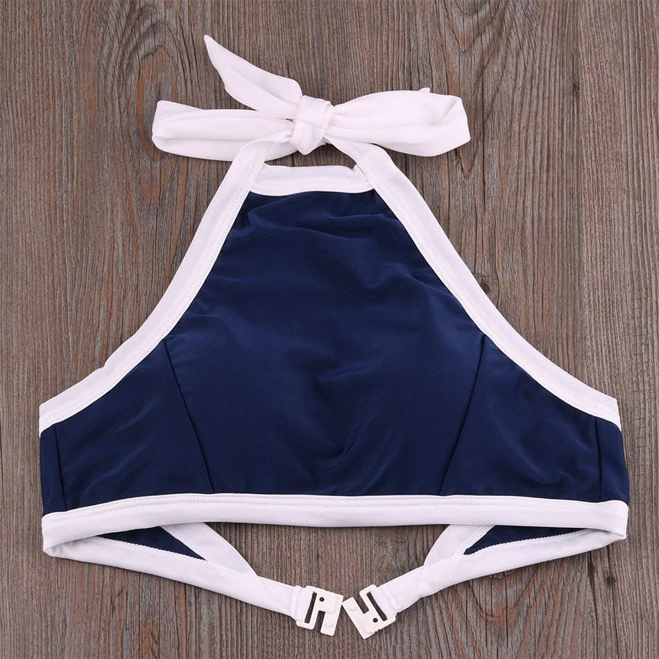 Brazilian Bikini set Sexy High Neck Bandage Swimsuit Padded Push up Swimwear Women Bathing Suit Maillot De Bain Femme Biquinis 16
