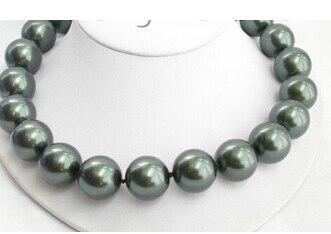 20mm 100% collier de perles de tahiti noir de mer du sud AAA> bijoux de mariage pour femmes en gros