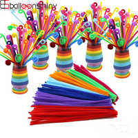 BalleenShiny 100pcs/set DIY Twisted Plush Stick Toys Kids Coloful Shilly-Stick Children's Educational Toys Random Color