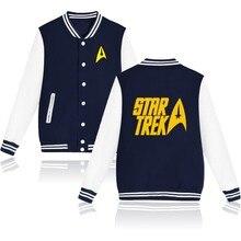 Star Trek Designs Baseball Jacket Women Jacket in Spock and Prosper Autumn Jacket Women Long Slim