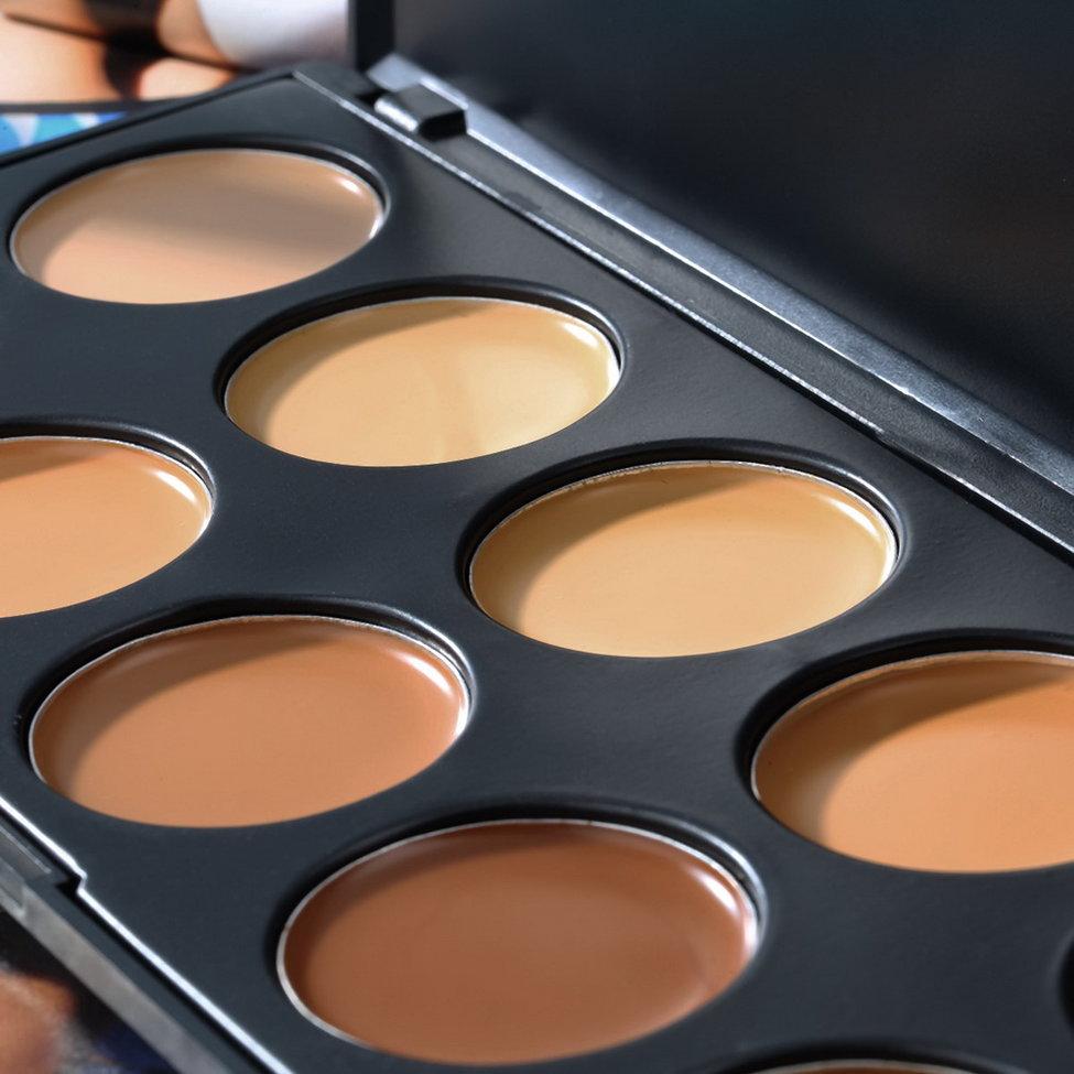 10Pcs Original Concealer Palette Makeup Cover Base Foundation Base Primer Corrector Cream corret original gpd win base cover