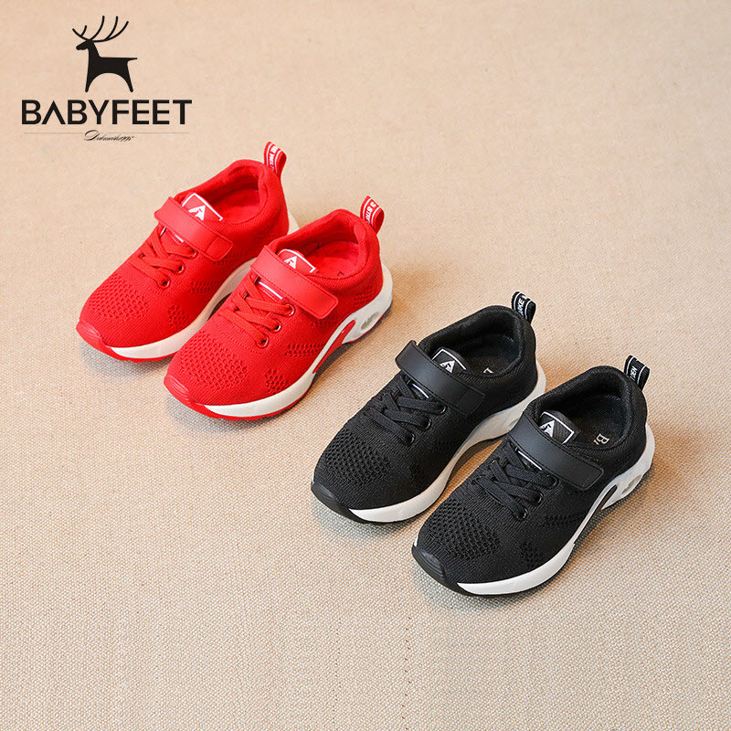 Babyfeet High Quality 2017 Fashion New Children Shoes Breathable Net knit Sports shoes Running flat Light sneakers size 26-30 high quality children sneakers 2016 spring