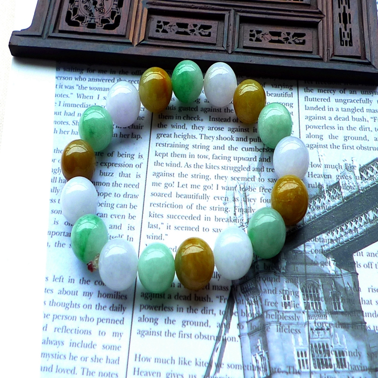 цена 3 Colors Bracelet Stone Green Jewelry Bracelets For Women Diy Handmade Love Gift Strand Beaded Bracelet For Women