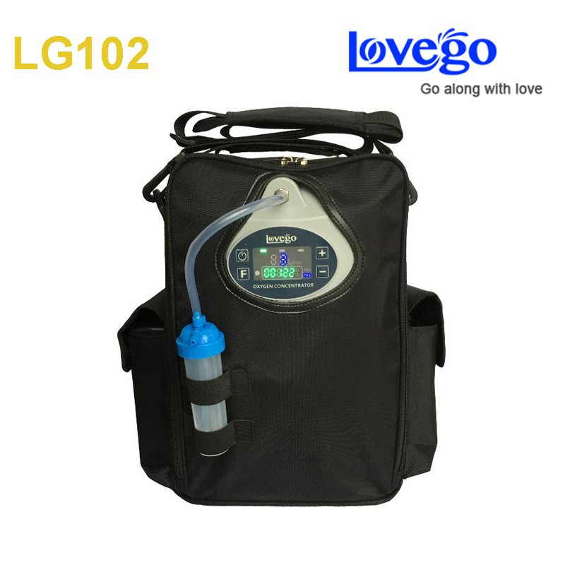 6 hours battery time Newest Lovego portable oxygen concentrator LG102 with three batteries
