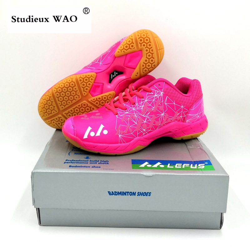 2019 Chinese Brand Original Badminton Shoes Women Pink Men Sport Training Couple Sneaker Lightweight Tenis Zapatillas Deportivas