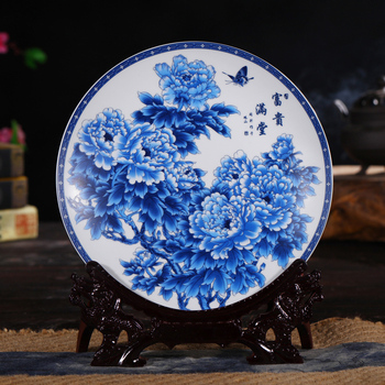 Chinese style fashion decorative hanging plate decoration Home Furnishing Home Furnishing hunker living room crafts image
