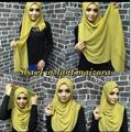 J11  10PCS 1LOT instant  bubble chiffon Solid color shawls  hijab summer  can choose colors