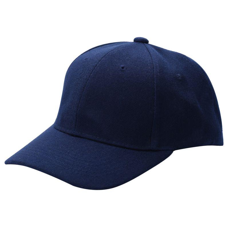 Men Women Plain Baseball Cap Unisex Curved Visor Hat Hip-Hop Adjustable Peaked Hat fashion adjustable men women baseball cap solid hip hop snapback flat hat visor