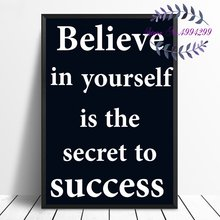Believe In Yourself Canvas Poster Print Home Wall Decor No Frame(China)