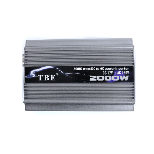 TBE 2000W Car Power Inverter DC 24V TO AC 220V Compact Portable Auto Power Inverter Charger Converter Adapter Modified Sine Wave