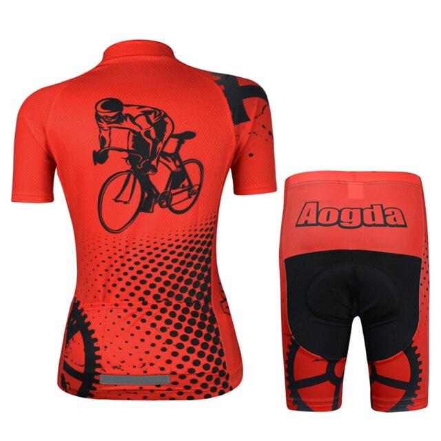 Aogda Ciclismo 2018 Camisa de Ciclismo Definir Mulheres Verão de Manga Curta Desgaste de Ciclismo Roupas de Ciclismo roupas bicicleta Respirável Quick Dry 1