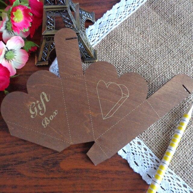 New Design 8pcs Retro Z Style Heart Box Template Diy Gift Paper Maker For
