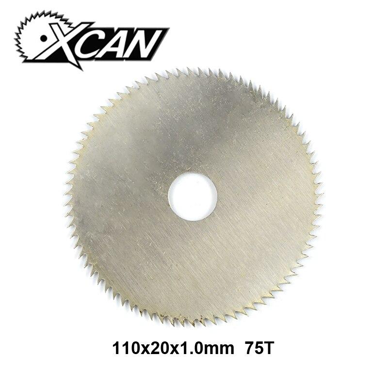 XCAN 1pc 110x20x1.0mm 75Teeth Manganese Steel Circular Saw Blade Wood Cutting Disc Power Tool Accessories