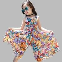Le ragazze Vestono Primavera Estate Della Boemia Abiti Per Le Ragazze Dei Capretti Floreali abiti Per Le Ragazze 6 8 10 12 14 Figli Adolescenti vestiti