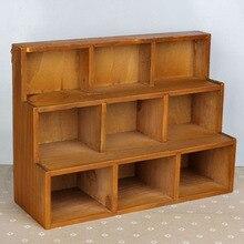 Ретро деревянный шкаф для хранения 9 решеток дома сортировки кабинета