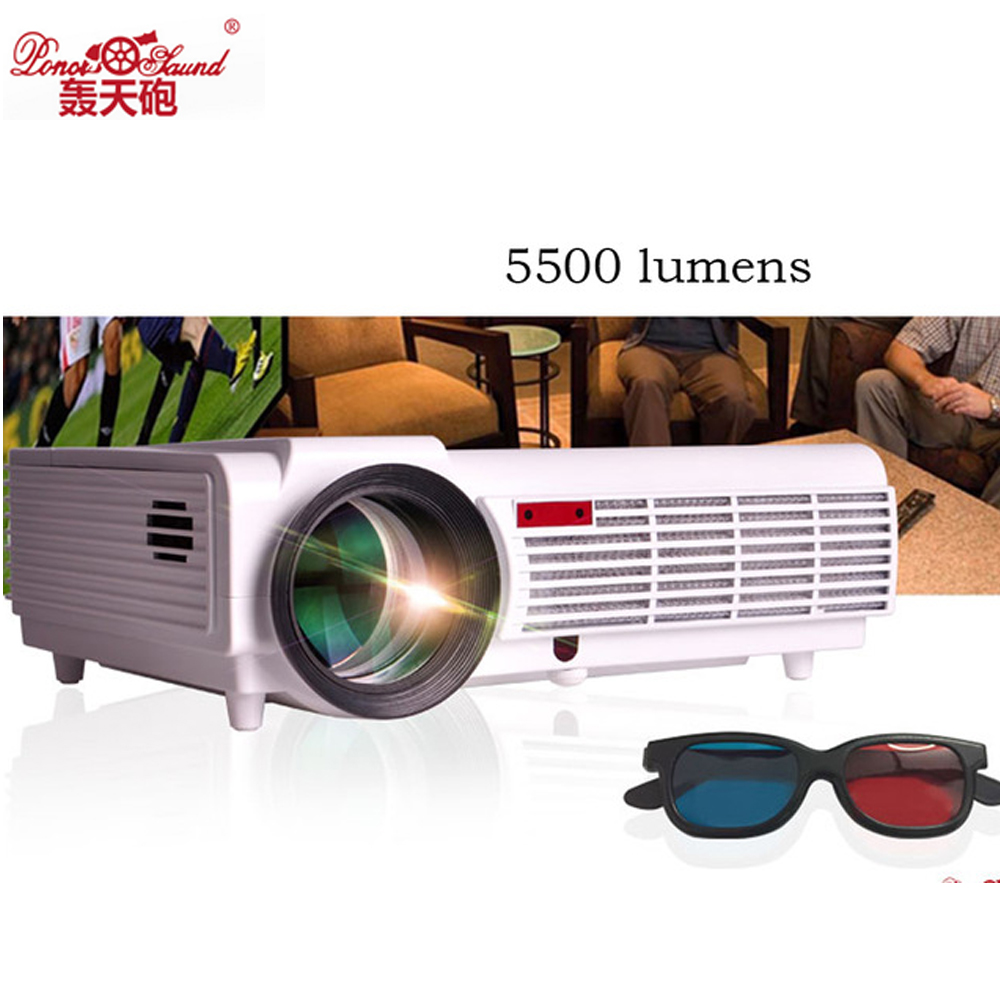 5500 Lumens Smart Lcd Tv Led Projector Full Hd Support: Real 5500 Lumens Led96 Portable LED Projector Full HD