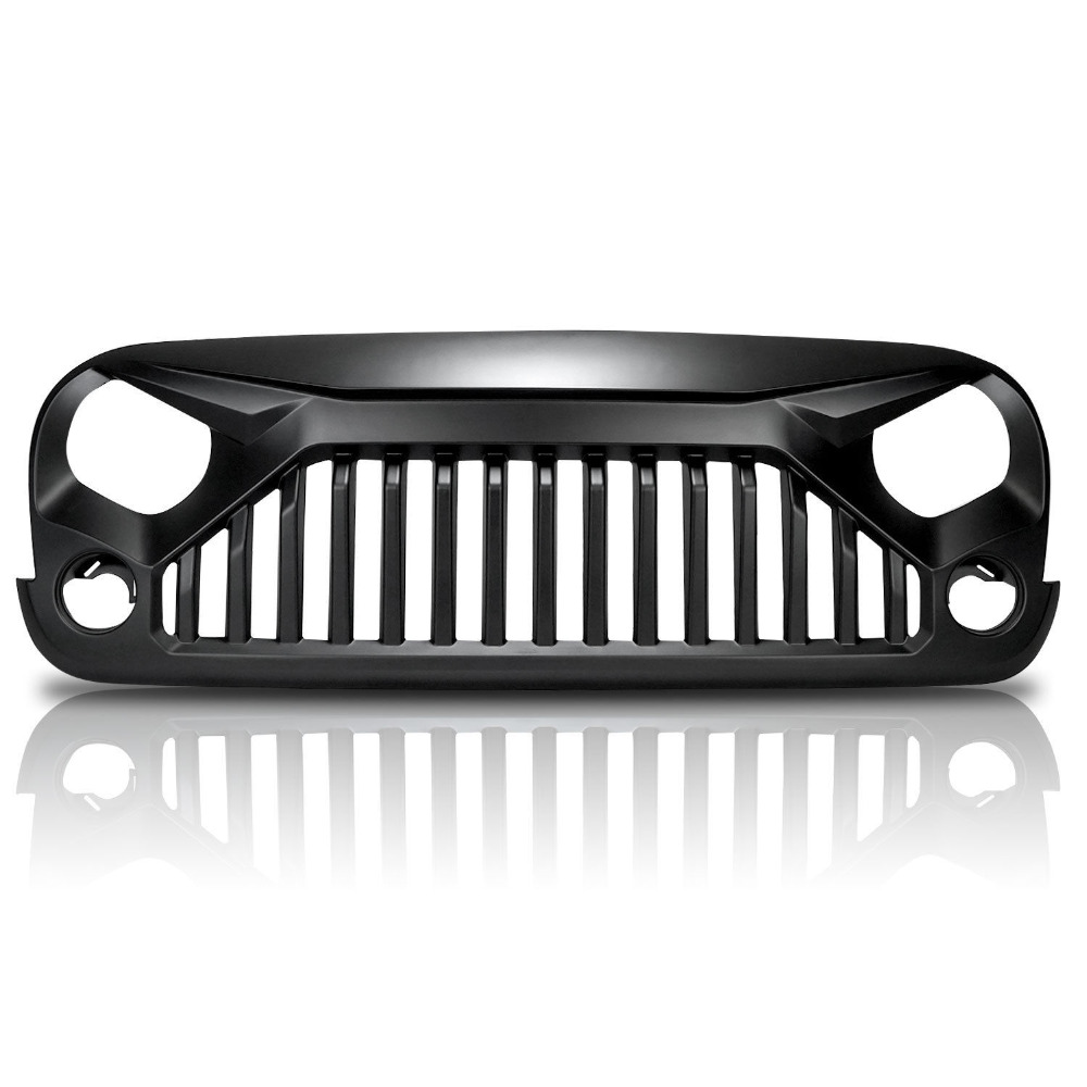 XYIVYG Upgrade bird topfire Front Matte Grill Grille For Jeep Wrangler 07-17 JK front grill mesh grill insert set cover front grille sticker racing grills trim for jeep wrangler jk 2007 2015