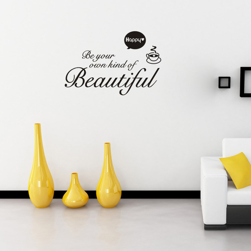 Beautiful vinyl sticker Removable custom made waterproof Bedroom living room home decor pvc Generation wall stickers