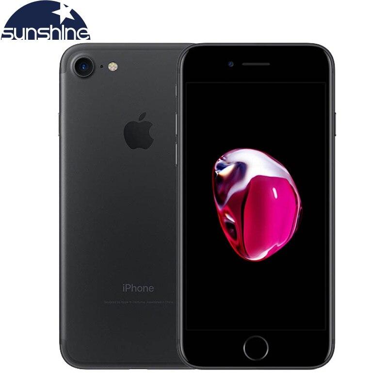 Оригинальное разблокирована Apple iPhone 7 4G LTE смартфон 2G Оперативная память 256 GB/128 GB/32 GB Встроенная память IOS 10 4 ядра 4,7 ''12 МП мобильного телефона