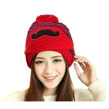 Женщины Леди Зима Крючком Борода Шапочка Усы Маска Для Лица Теплый Лыжный Вязать Hat Cap 5 Цветов