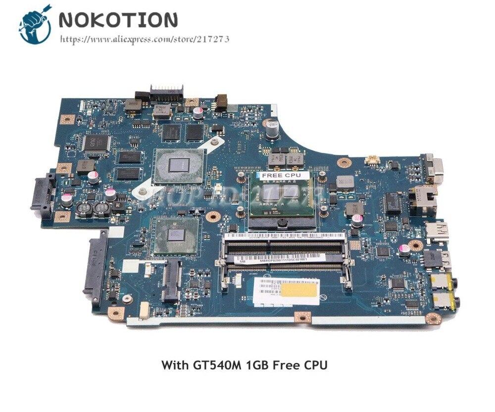 NOKOTION For Acer Aspire 5742 5742G Laptop Motherboard HM55 DDR3 GT540M 1GB Free CPU NEW71 LA-5893P MBRDP02001 MBBRB02001