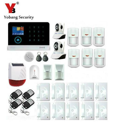 Yobang Security-Outdoor Solar Siren Camera Monitoring Home Security Protection WIFI GSM Alarm System Pet PIR Glass Break Sensor yobang security wifi gsm wireless pir home security sms alarm system glass break sensor smoke detector for home protection