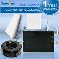 Sanqino Nueva Llegada 3G Teléfono Celular Amplificador de Señal GSM 900 2100 W-CDMA 3G Booster Amplificador de Señal de Doble Banda 3G
