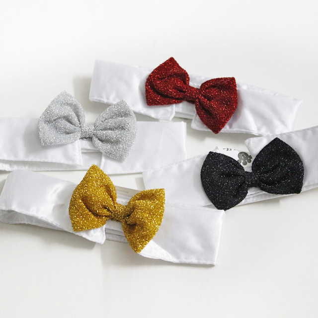 Hot Sales Pet Supplies Yellow Colors Cats Dog Tie Wedding Accessories Dogs Bowtie Collar Holiday Decoration Christmas Grooming