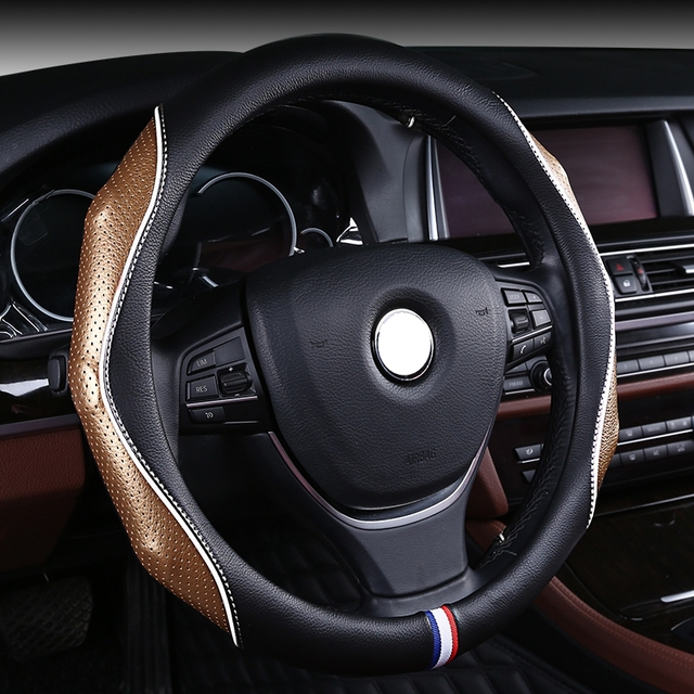 racing car steering wheel cover leather auto interior accessory for