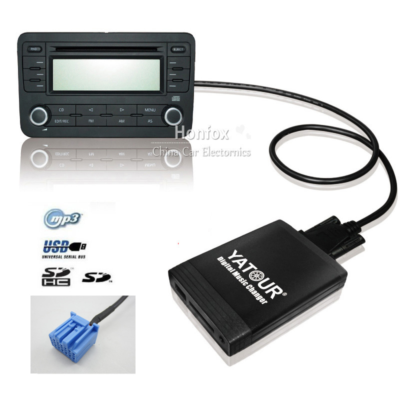 Yatour YT-M06 Car digital music changer For Honda Accord Civic CRV Fit Jazz Odyssey 1998-2004 USB SD AUX adapter BT interface yatour digital music changer usb sd aux adapter yt m06 fits volvo s60 s40 car stereos mp3 interface emulator din connector