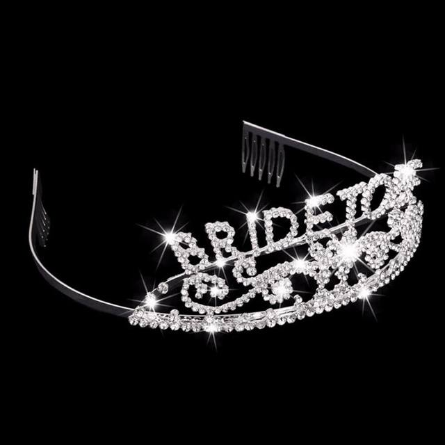 """Glittered """"Bride to Be"""" Crown"""