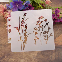 Flowers Leaves Sticker Painting Stencils for Diy Scrapbooking Stamps Home Decor Paper Card Template Decoration Album Crafts Art love cat heart sticker painting stencils for diy scrapbooking stamps home decor paper card template decoration album crafts art