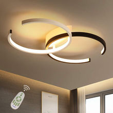 цена на LED Ceiling Light Lighting Fixture Double C Ceiling Lamp Flush Mount Dimmable with Remote Control  Modern Chic Style Ring-Desi