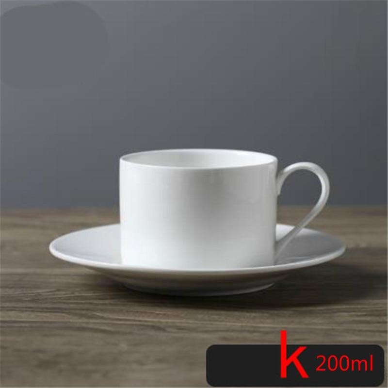 c61ff830599 Luxurious Highend Pure white Coffee cups saucers ceramic set classic style  plain mug customizable mugs plate tea drinking ware