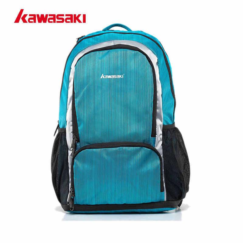 คาวาซากิแบรนด์กีฬาแร็กเก็ตกระเป๋าแบดมินตันแร็กเก็ตกระเป๋า Back pack สำหรับ Men Women Fitness Gym Travel 2 สีสีแดงสีฟ้า KBB-8231