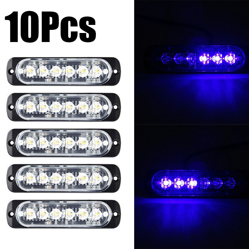 Image 3 - 10X Car Truck 6LED Strobe Light Flash Hazard Beacon Safety Warning Blue Lamp 18W-in Truck Light System from Automobiles & Motorcycles