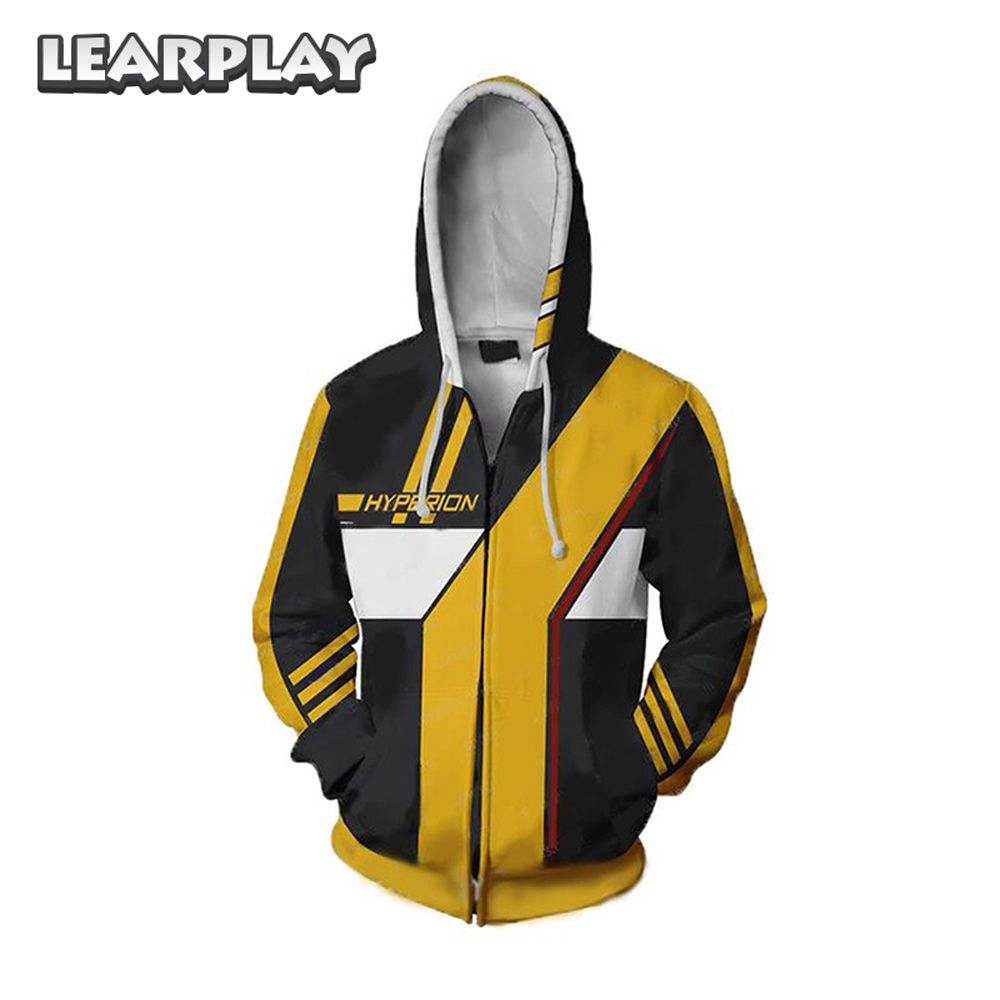 Game Borderland Hoodies Assassin Zero Cosplay Costume 3D Print Hooded Sweatshirt Men Adults Cartoon Zipper Coat Hip Hop Jacket