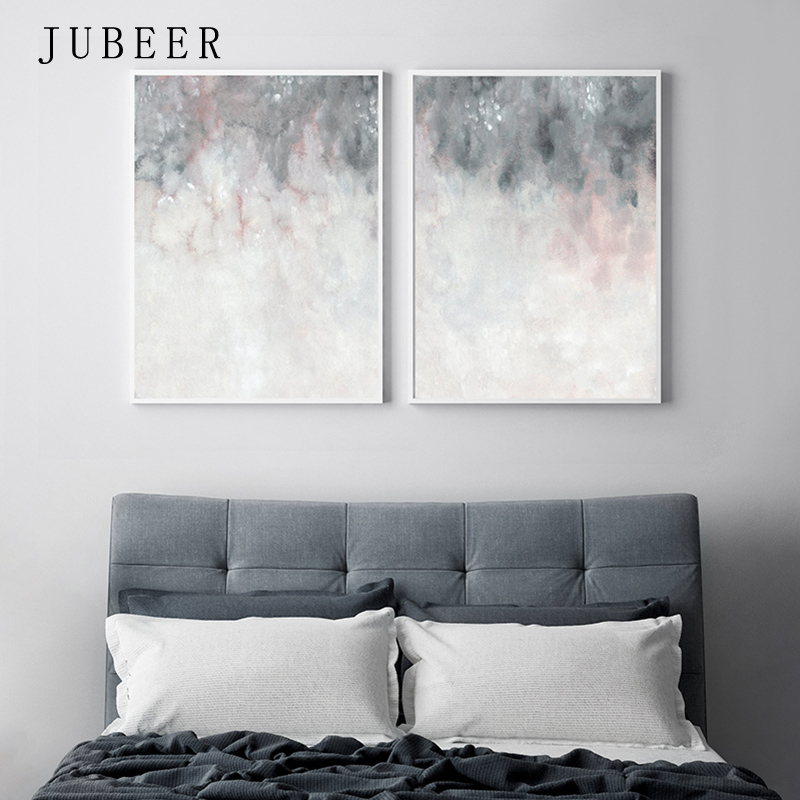 Nordic Poster Pink Grey Wall Art Bedroom Abstract Painting Print Wall Pictures For Living Room Decoration Picture Home Decor Painting Calligraphy Aliexpress