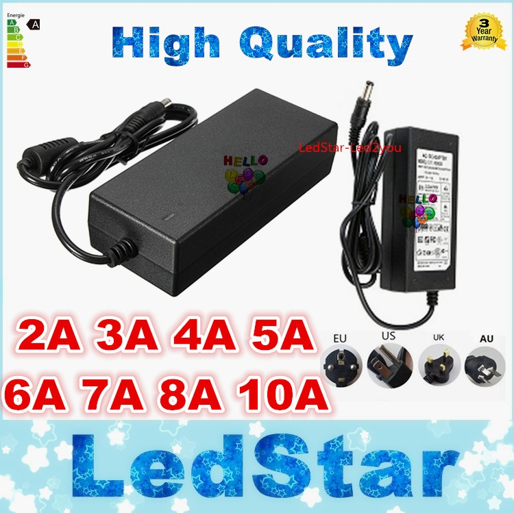Led Star 12V / 5V / 24V 5A 60watts Power adapter 2A 3A 4A 6A 7A 8A 10A LED strip transformer power supply ! Free Shipping 201w led switching power supply 85 265ac input 40a 16 5a 8 3a 4 2a for led strip light power suply 5v 12v output